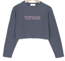 Alibi lettering cropped long-sleeved T-shirt