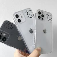 Simple Smile Pattern Transparent Jelly iPhone Case
