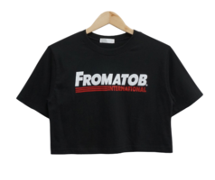 From Lettering Crop Short Sleeve Tee