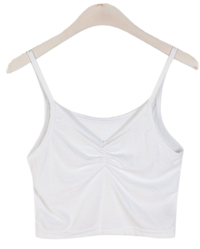 1+1 Shirring Thong Sleeveless T