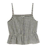 Jelly string check camisole