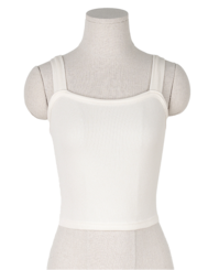 Bow furnace Ribbed Square Sleeveless Crop