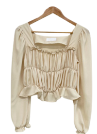Harry's shirred square blouse