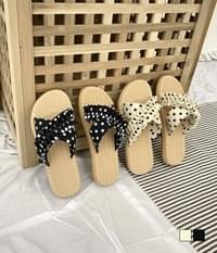 Dot x-shaped slippers