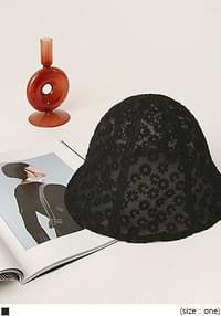Floral Lace See-Through Bucket Hat
