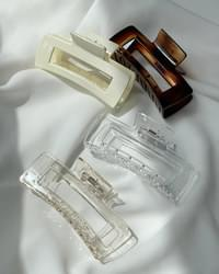 Monoco clear square hair clippers