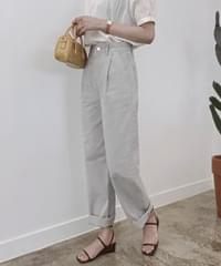 Lion Faded Color Pintuck Wide Pants - Light Gray L, Light Pink L Same Day Shipping
