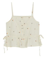 Jelly string cherry camisole
