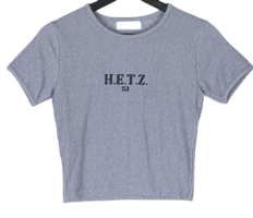 Heights Ribbed lettering cropped T-shirt