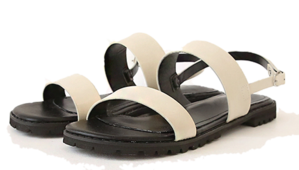 Double Upper Buckled Strap Sandals