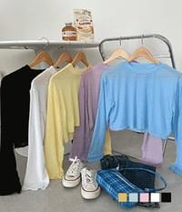 Soft cooling cropped T-shirt
