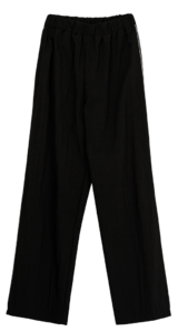 Side color piping trousers