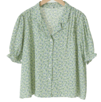 Blooming Banding Puff Blouse