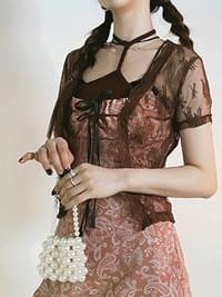 See-through Kerry lace cardigan