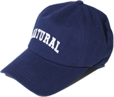 Natural Lettering Ball Cap