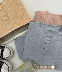 Henry Neck Daily Round Short Sleeve Knitwear