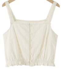 Punched lace sleeveless top