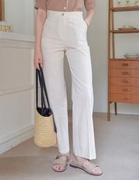 Ain cotton wide trousers