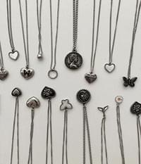 Collection of 15 Surgical Steel Butterfly Heart Coins