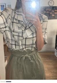 Sister's cool checked linen jacket