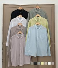 Asa cotton Faded overfit shirt that is full of slacks