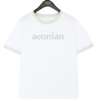 Contrast Accent Lettering T-Shirt