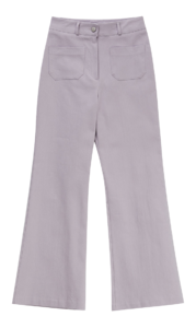 Pocket Flared cotton trousers