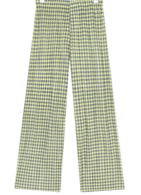 Houndstooth Pattern Pleated Pants