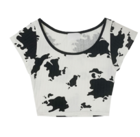 Humming cow cropped T-shirt