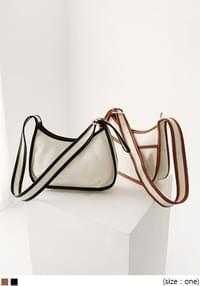 Contrast Accent Hobo Bag