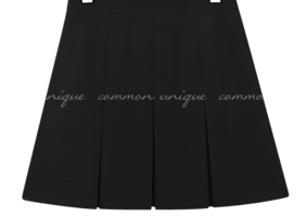 Box Pleat Flared Mini Skirt WITH CELEBRITY