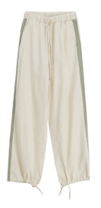 two-tone track jogger trousers