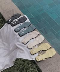 Cozny Square Strap Sandals Slippers