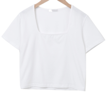 Candy Color Tension Square Crop Tee