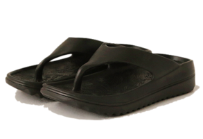 Solid Tone Thick Sole Flip Flops