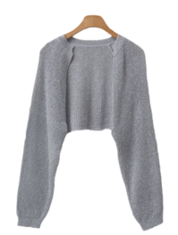 open cropped cardigan