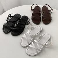 two cross sandals