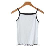 Color Ribbed wave Sleeveless