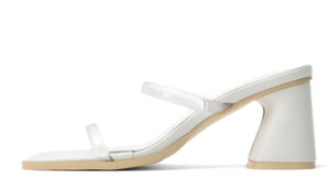 Wave Outsole Double Clear Block Heel Sandals 5363