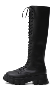 Knee high light weight long heel lace-up long boots 9057-L ♡2nd sold out♡
