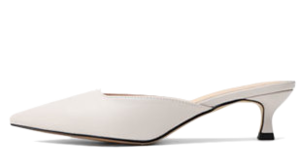 Isshu Two types of heel heights Unbalanced pointed nose Mule blocker 5336