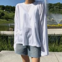 Loose-fit summer long sleeve t
