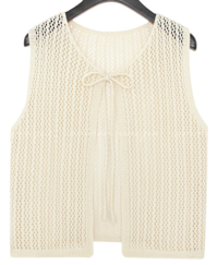 See-Through Reversible Knit Vest
