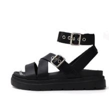 Glady Style Two Buckle X-Shaped Strap Whole Heel Sandals 9130 ♡7th Sold Out♡