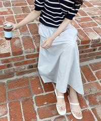 Mob Cotton Flare Long Skirt
