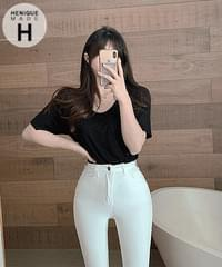 Real Tight S-Line Fit Summer Short 155cm 8 Skinny Cotton Pants