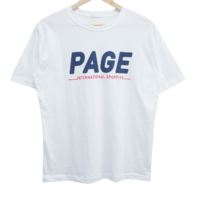 page lettering short sleeve tee