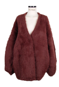Mulley Jelly Fit Fur Jacket Cardigan