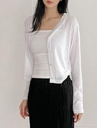 Lily linen cropped cardigan