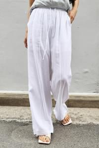 linen front point trousers
